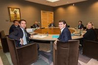 Reunión de las comisiones negociadoras de PP y Cs