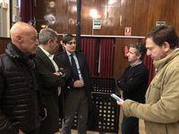 Fernando Salas, Juan Antonio Sanz, el abogado José Sala, Agustín Cuenca y Rafael López, uno de los inversores.