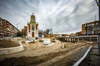 Obras en la Plaza Rafael Cano de Valladolid