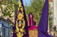 procesión del Cristo de Medinaceli y la Virgen de la Esperanza que sale del barrio del Pilar semana santa