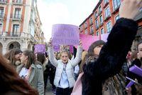 Manifestación con motivo del Día Internacional de la Mujer.