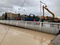 El rio Segura a su paso por Mufcia, lluvias, tormentas, DANA