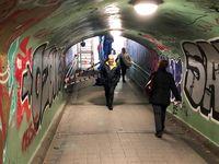 Obras en el túnel peatonal de Labradores.