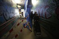 Obras en el túnel peatonal de Labradores