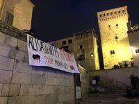 Concentración en Segovia en apoyo al Tsunami Democràtic