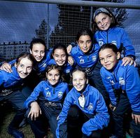 Las jugadores del benjamín que milita en el grupo 1 de la Tercera Provincial conquistó una victoria por goleada en la pasada jornada y ocupa la cuarta plaza de la tabla.