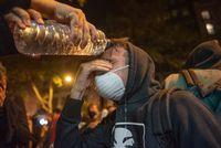 Huelga general en Catalunya. Disturbios en la Plaza Urquinaona de Barcelona