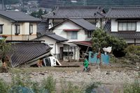 Aftermath of Typhoon Hagibis, in Japan