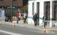 Obras en el paseo de Farnesio.