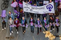 Manifestación del 8M, manifestación de feministas, manifestación por el derecho de las mujeres, por la igualdad de las mujderes