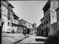 Calle de la Plata, con la iglesia de Santa Eulalia al fondo, entre 1905 y 1911.