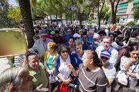 Fiesta del Santo Voto de Puertollano, reparto de la comida del Voto, voto, Sanato Voto