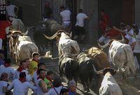 Sexto encierro de los Sanfermines 2019, con toros de de Núñez del Cuvillo, de Vejer de la Frontera (Cádiz)