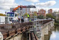 Obras en el Puente Mayor