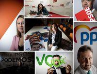 Los candidatos por Burgos, en fotos