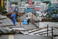 El tifón Haishen, a su paso por Japón