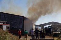 Incendio de una nave en Salobral