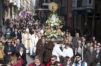 Bendición y procesión de la Virgen de la Calle