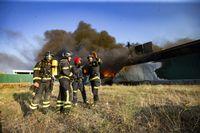 Incendio en san Pedro del Arroyo