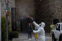 Tareas de desinfección en la capital
