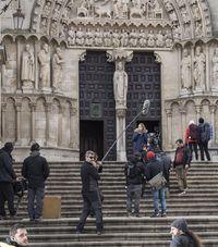 Rodaje de la serie 3 Caminos en Burgos