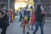 Segundo día de protestas contra el Gobierno en el Azoguejo