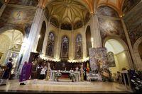 Memorial por las víctimas del Covid-19 en la Catedral