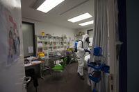 Desinfección en el cetro de salud Ávila Estación
