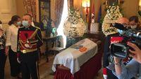 Velatorio de Ramón Escobar en el Ayuntamiento de Segovia