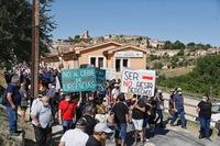 La manifestación en Sepúlveda por la sanidad rural, en fotos