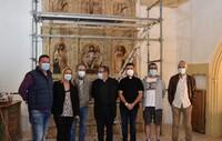 Avanza la restauración del retablo de Aldealafuente