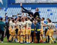 El Mallorca asciende a Primera tras la derrota del Almería