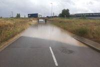 Las tormentas dejan incidencias menores en Navarra