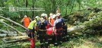 Herido al caer en una sima desde ocho metros en Larraun