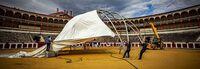 La plaza de toros acogerá una gran terraza para 360 personas