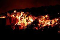 El volcán de La Palma tiene ocho boca...