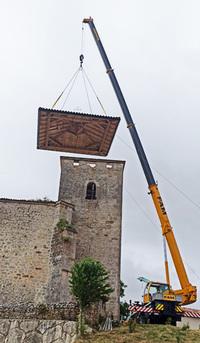 Nueva cubierta para la torre de la iglesia de Fuenteodra