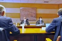 El presidente de la Junta de Castilla y León, Alfonso Fernández Mañueco, asiste al Consejo Rector de Unión Regional de Cooperativas Agrarias de Castilla y León (Urcacyl), que se celebra en Avigase.