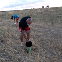 Regaderas para reforestar la Cañada Segoviana en Torrijos
