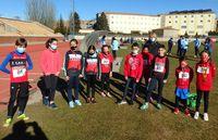 Medallas conseguidas por los  atletas de la escuela de atletismo del CAS-Ciudad de Segovia en el I trofeo de Reyes de Ávila