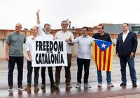 Los presos del procés abandonan la cárcel tras el indulto