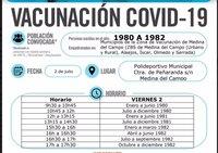 Los medinenses de 1980 a 1982 se vacunarán el 2 de julio