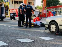 Herido un joven de 22 años en un accidente con un patinete