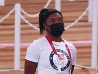 Simone Biles vuelve para la final de barra de equilibrio