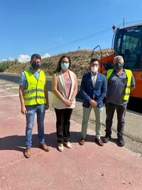 Reposición del firme en tres nuevos tramos de carreteras