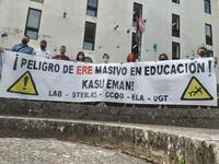 Sindicatos advierten de un ERE masivo en Educación