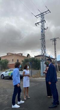 70.000€ para eliminar el cableado eléctrico aéreo en Olías