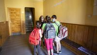 Los tres últimos alumnos del colegio de Villaumbrales