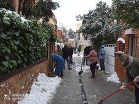 Los lectores también tomaron imágenes del temporal de nieve en la capital y la provincia