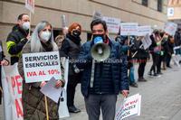 Protesta del sector de peluquerías y estética